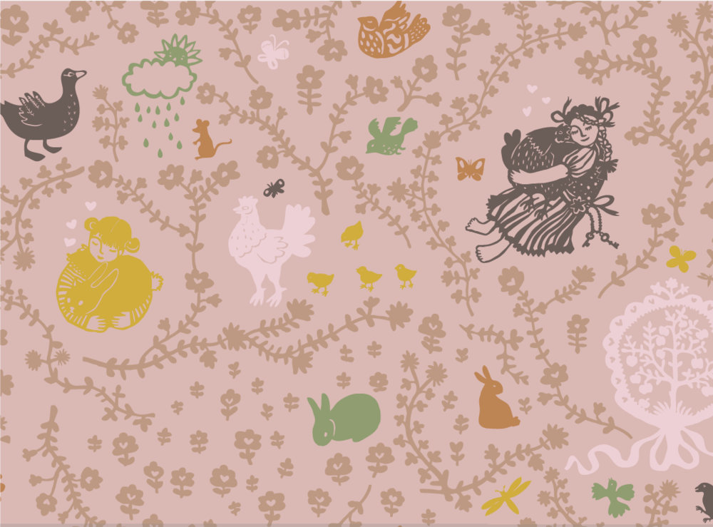 Random work from TEMPEL DESIGN - Hilde Tempelman | surface design & textile prints | folky wallpaper