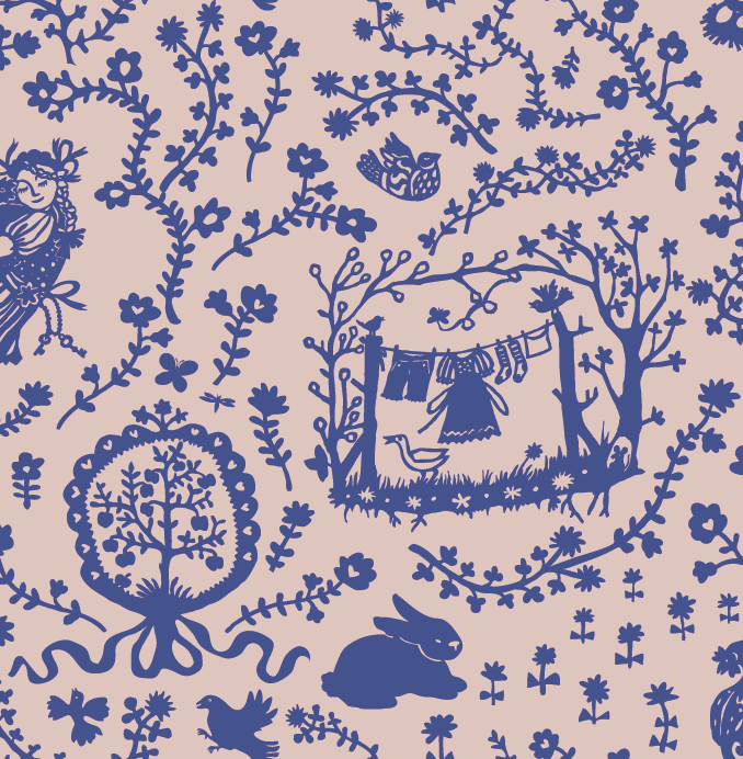 Random work from TEMPEL DESIGN - Hilde Tempelman | surface design & textile prints | folky wallpaper