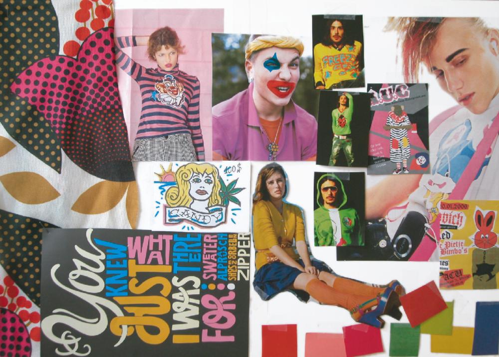 Random work from TEMPEL DESIGN - Hilde Tempelman | mood, colour, art direction | Rags mood clown