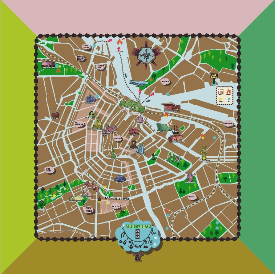 Random work from TEMPEL DESIGN - Hilde Tempelman | surface design & textile prints | amsterdam map - scarve