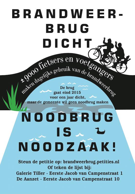 Random work from TEMPEL DESIGN - Hilde Tempelman | graphics | flyer save the bridge