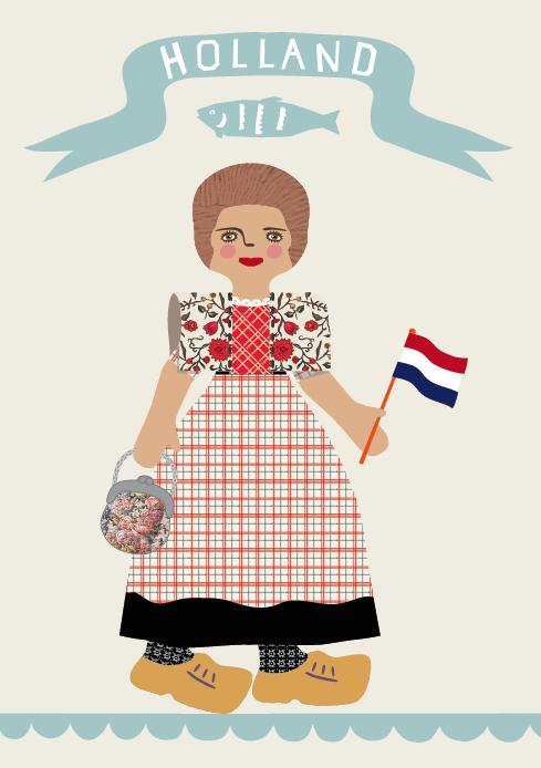 Random work from TEMPEL DESIGN - Hilde Tempelman | artworks & illustration | dutch folk costume Spakenburg