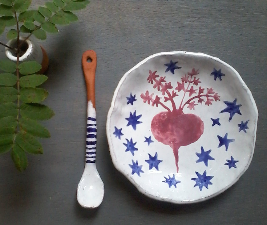 Random work from TEMPEL DESIGN - Hilde Tempelman | ceramics | beetroot dish