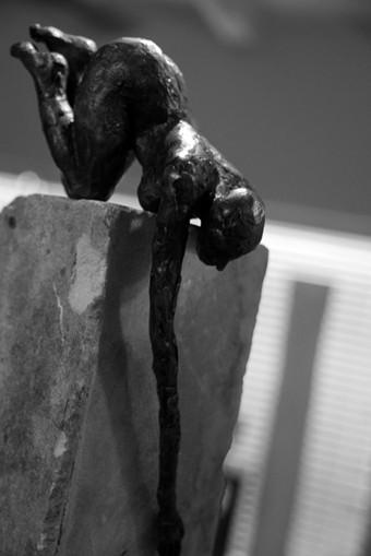 "Random work from Rosella Fida | Bronzes | I want to get down, 2010 bronze - 2/8, 18x13x13cm - 7""x5""x5"""