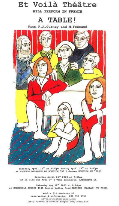 Random work from Rosella Fida | Illustrations | 2002, A TABLE - ETVOILATHEATRE