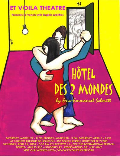 Random work from Rosella Fida | Illustrations | 2003, HOTEL DES DEUX MONDES - ETVOILATHEATRE