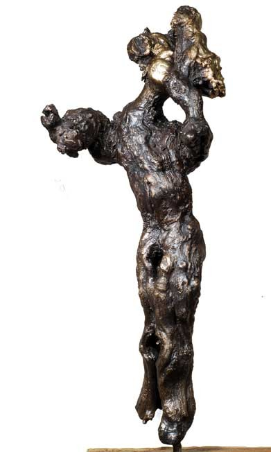 "Random work from Rosella Fida | Bronzes | I WANT TO BE VULNERABLE, 2008 bronze, piece unique - 70x15x50cm - 28""x6""x20"""