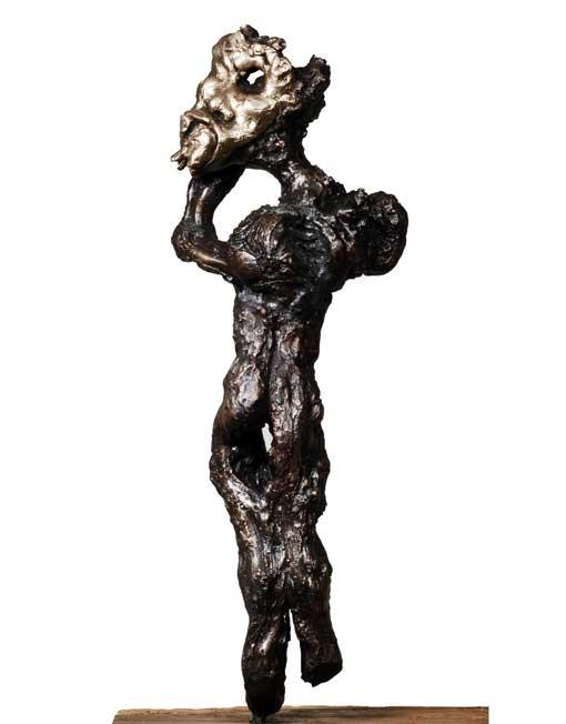 "Random work from Rosella Fida | Bronzes | I WANT TO BE VULNERABLE, 2008 bronze, piece unique - 70x15x50cm - 28""x6""x20"""