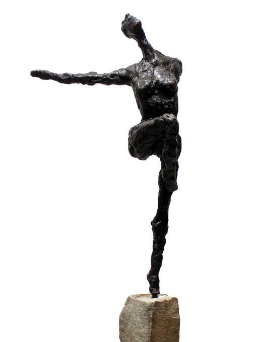 "Random work from Rosella Fida | Bronzes | DANCER, 2007 bronze - 12x15x37cm - 5""x6""x15"""