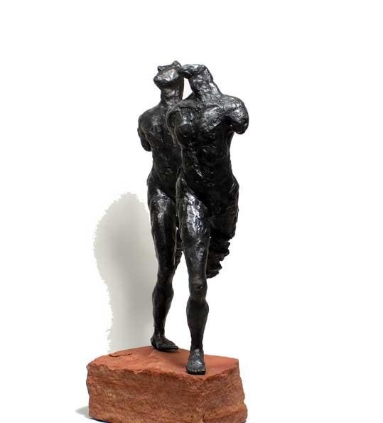 "Random work from Rosella Fida | Bronzes | RUNNERS, 2007 bronze 5/5 - 34x14x12cm - 13""x6""x5"""