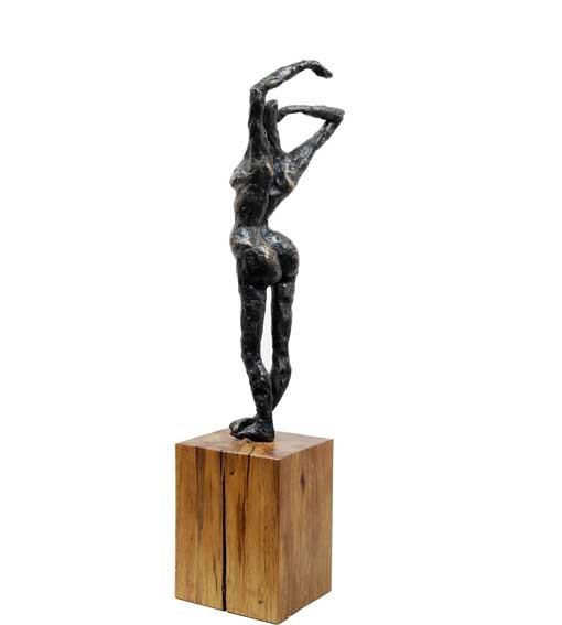 "Random work from Rosella Fida   Bronzes   AWAKENING, 2008 4/5 - 12x12x37 - 5""x5""x15"""
