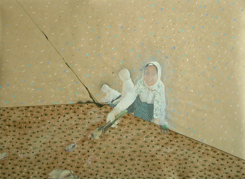 Random work from Mayumi Niiranen Hisatomi | Paintings  2008-2009 | Brown paper 8