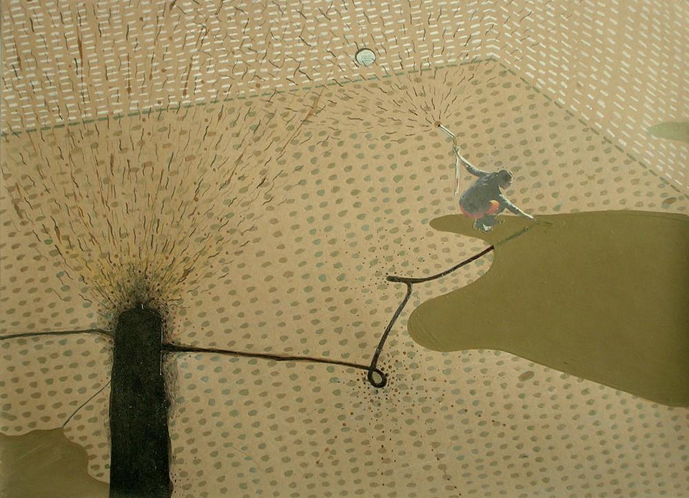 Random work from Mayumi Niiranen Hisatomi | Paintings  2008-2009 | Brown paper 10