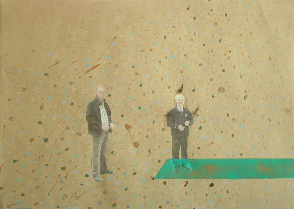 Random work from Mayumi Niiranen Hisatomi   Paintings  2008-2009   Brown paper 1