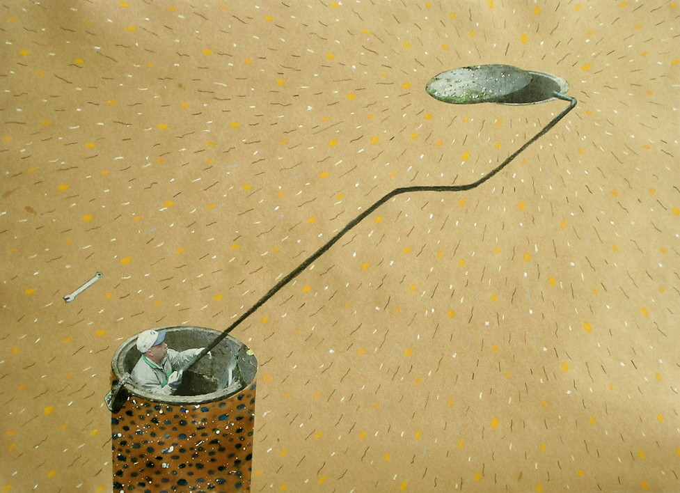 Random work from Mayumi Niiranen Hisatomi | Paintings  2008-2009 | Brown paper 5