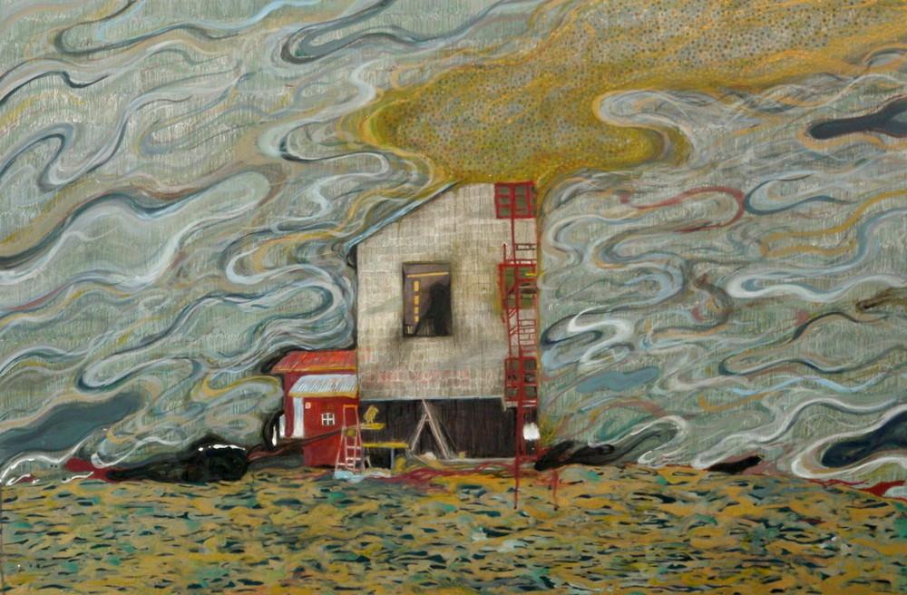 Random work from Mayumi Niiranen Hisatomi | Paintings   2011 | Home for escaping and living / 住むためと逃げるための家