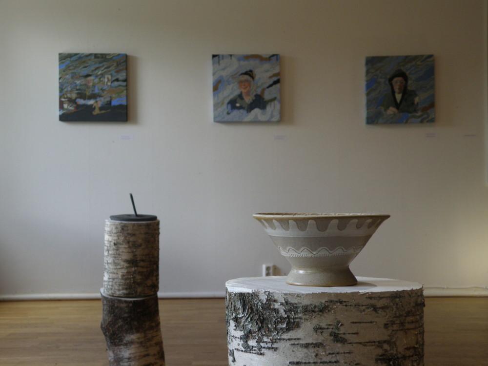 Random work from Mayumi Niiranen Hisatomi | Exhibition views  | Prime number -Japanese Contemporary Art to Kainuu.  At Ravintola Sirius 2nd floor