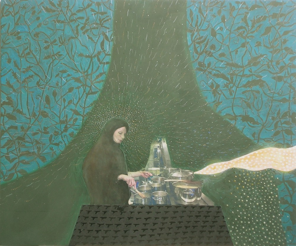 Random work from Mayumi Niiranen Hisatomi | Paintings  2008-2009 | A meal for pigs and woodpeckers