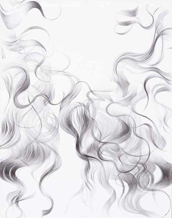 Random work from HENNI KITTI | PIIRUSTUKSET ////////// DRAWINGS | Hiukset; kuulakärkikynä; 2006; 72 x 91cm