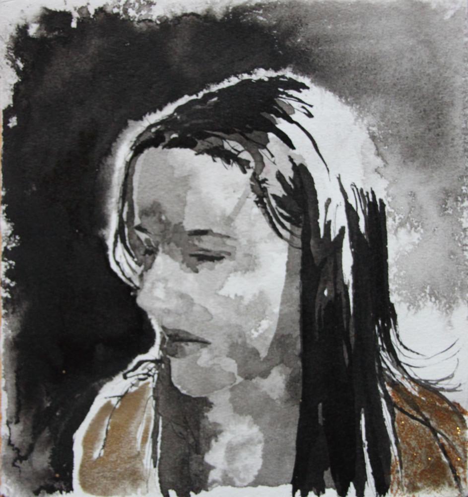 Random work from HENNI KITTI | MAALAUKSET ////////// PAINTINGS | Nimetön; muste ja vesiväri; 2005