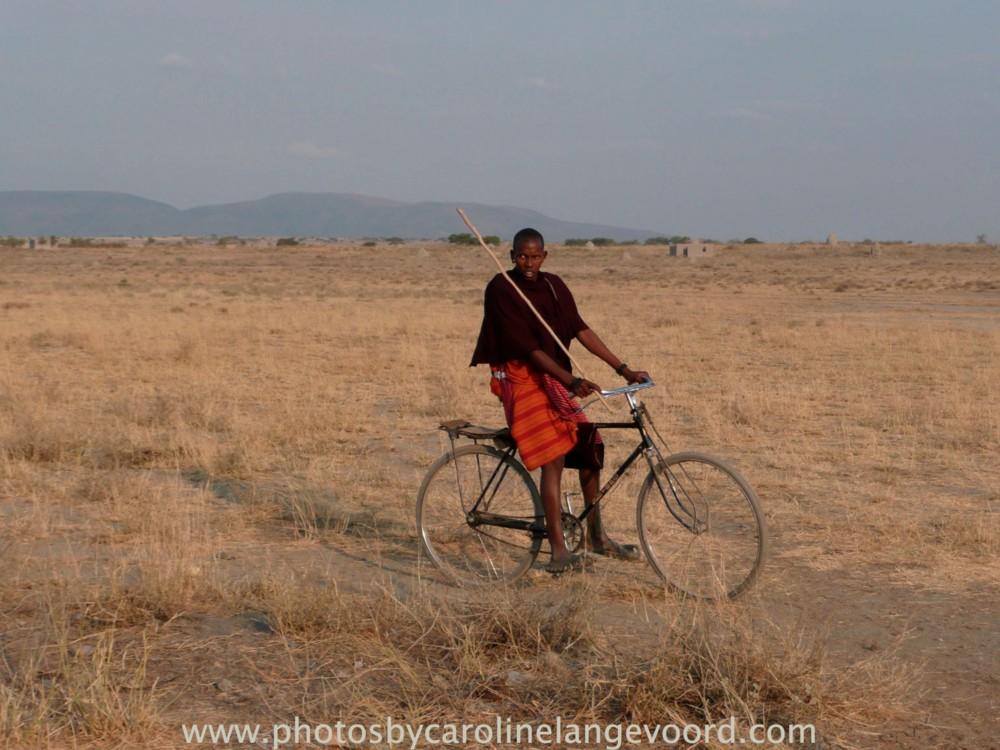 Random work from photos by caroline langevoord   portraits of east africa   masai on bike