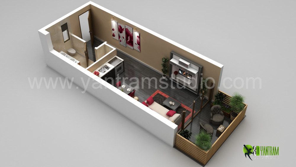 Yantram studio 3d architectural animation 3d floor for Motel pas chere