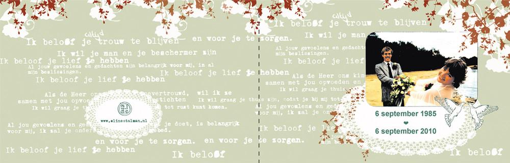 Random work from Eline Stalman | Kaartontwerp  | Huwelijksjubileumkaart