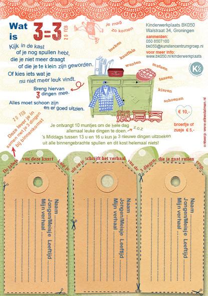 Random work from Eline Stalman | Illustratief ontwerp | Flyer Kinderwerkplaats BK050 (achterkant)