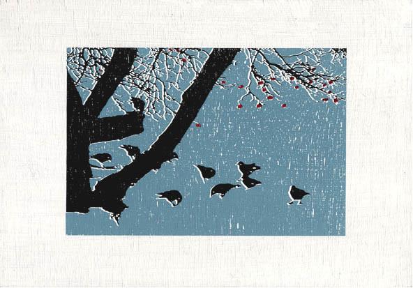 Random work from Eline Stalman | Zeefdrukken | Gathering of crows