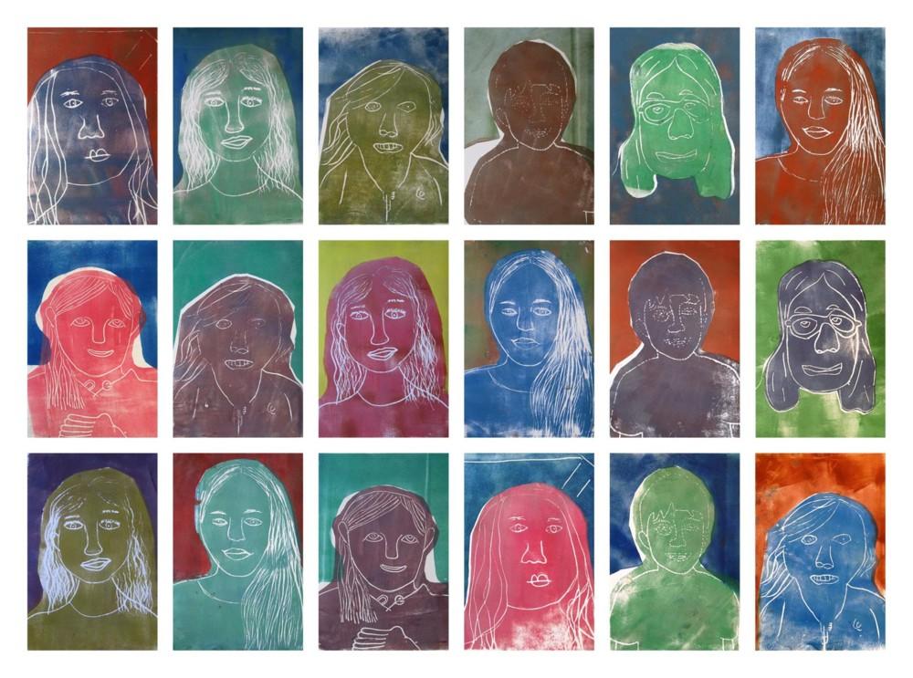 Random work from Eline Stalman | Workshops en cursussen | Kindercursus Druktechnieken