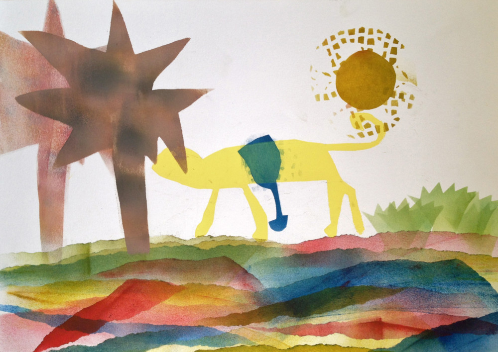 Random work from Eline Stalman | Kindercursus Druktechnieken | Kindercursus Druktechnieken