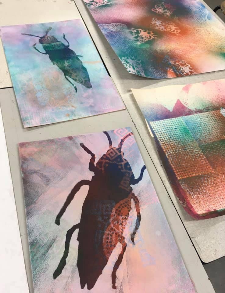 Random work from Eline Stalman | Workshops en cursussen | Gemengde druktechnieken