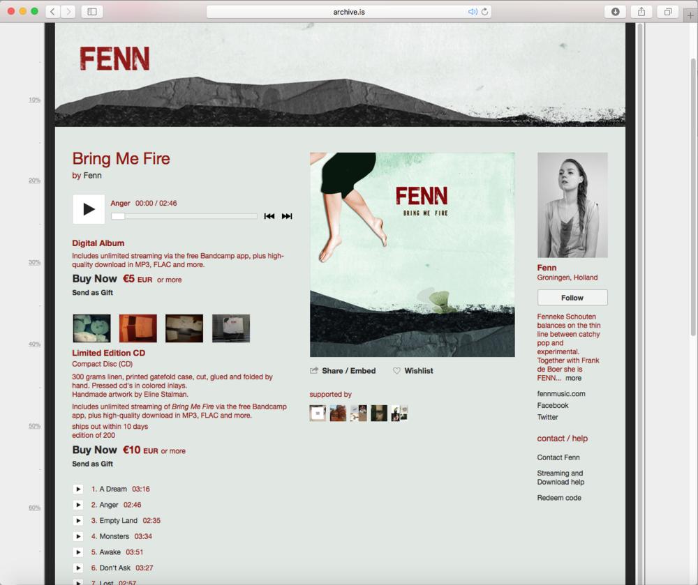Random work from Eline Stalman   Publicaties   Albumhoes voor FENN