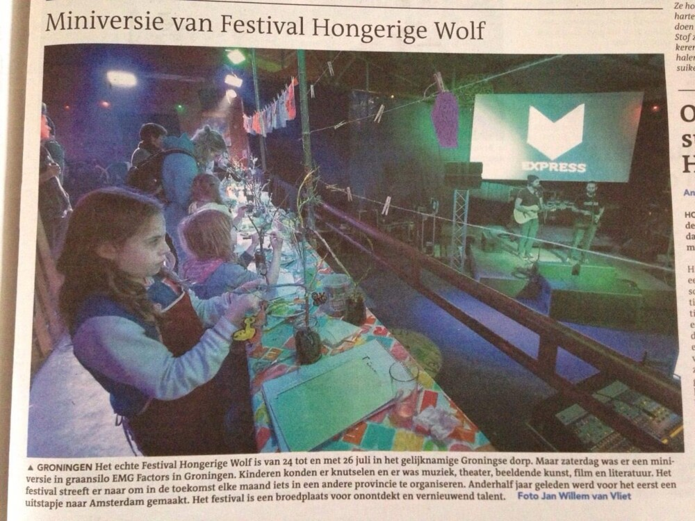 Random work from Eline Stalman | Publicaties | mini festival Hongerige Wolf
