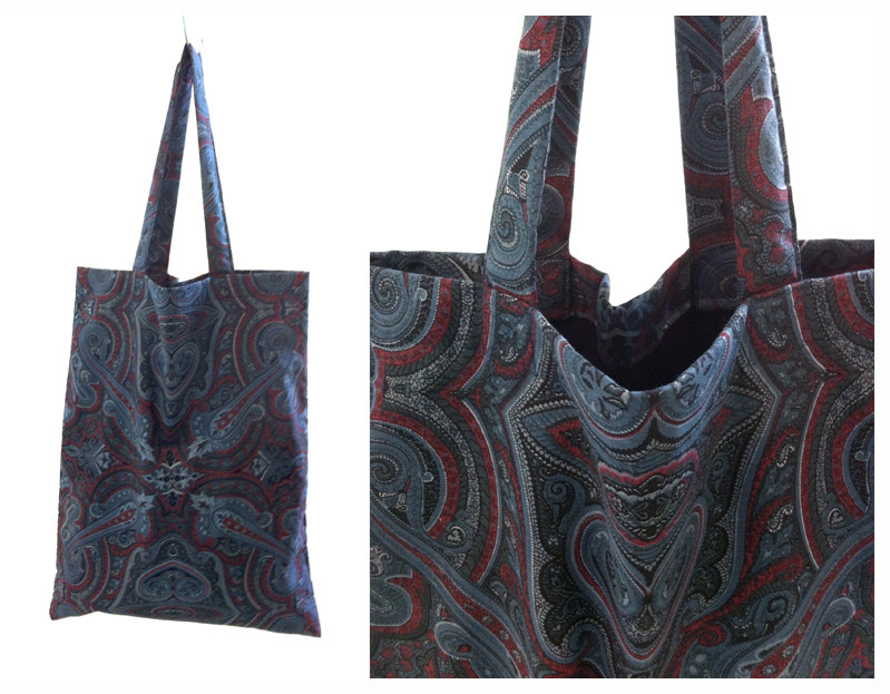 Random work from DEARHUNTER  | BAGS | DH Burgundy & Grey Paisley Bag