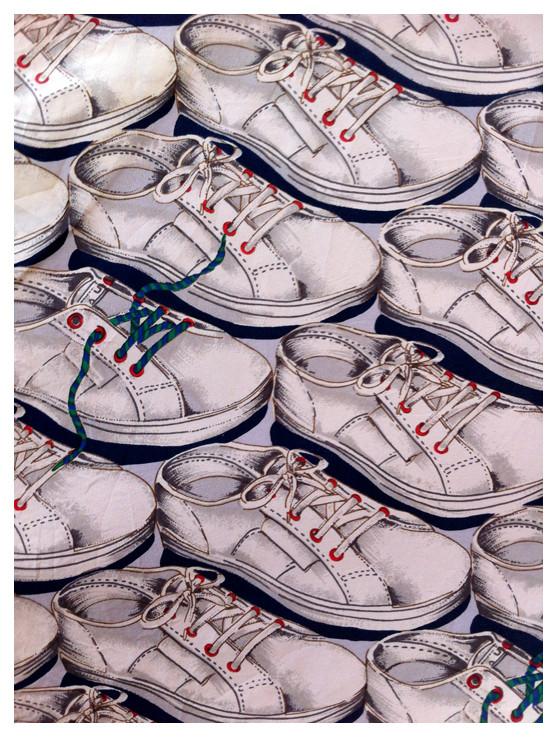 Random work from DEARHUNTER  | PRINTS EXTRAORDINAIRE | Print Silk Sneaker Blouse