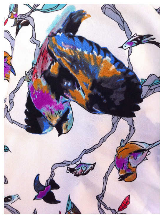 Random work from DEARHUNTER  | PRINTS EXTRAORDINAIRE | Print Japanese Bird Blouse