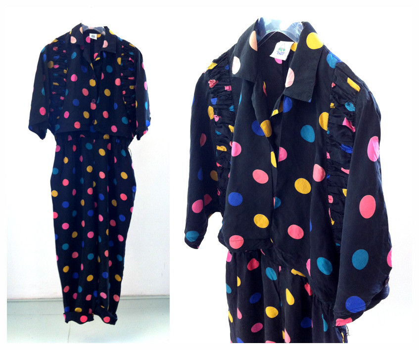 Random work from DEARHUNTER  | VINTAGE PORTFOLIO | Silk Color Polka Jumpsuit
