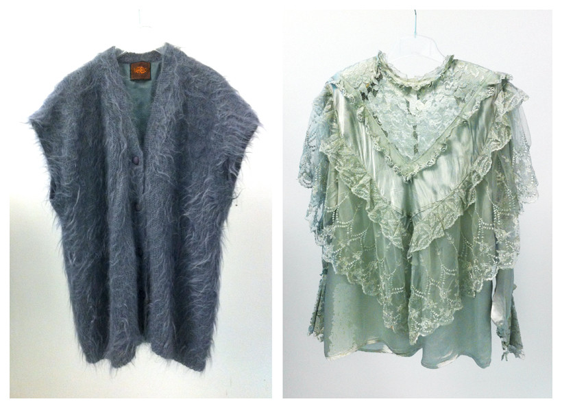 Random work from DEARHUNTER  | VINTAGE PORTFOLIO | Mohair Sleeveless Cardigan & Gypsy Top