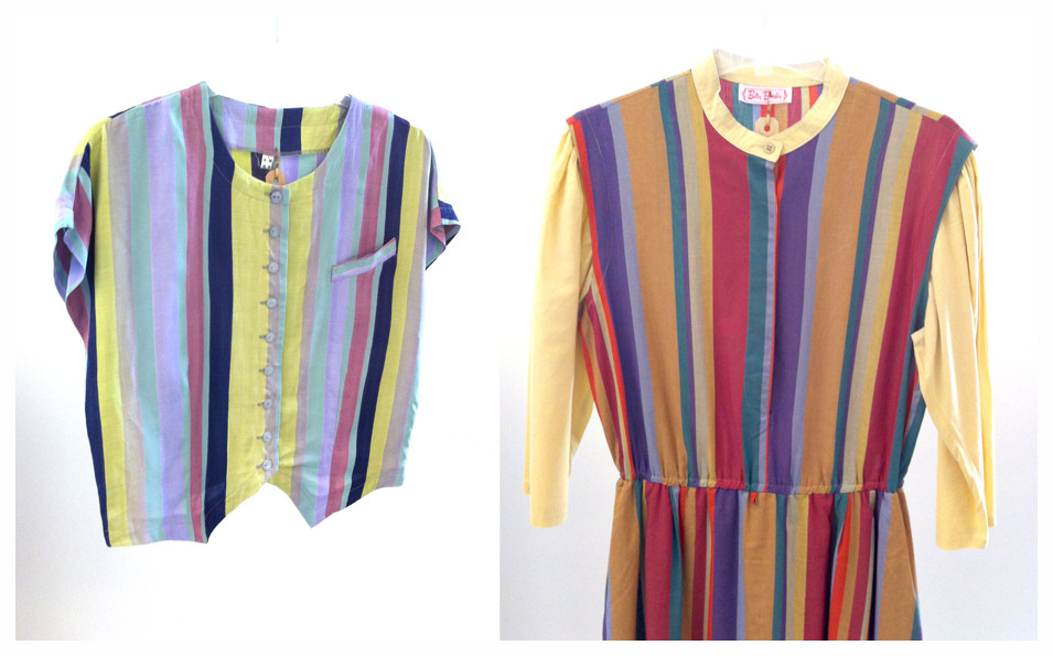 Random work from DEARHUNTER  | VINTAGE PORTFOLIO | Striped Crop Blouse & Cotton Dress