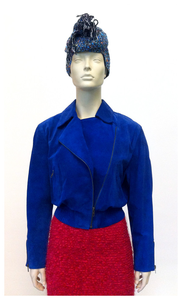 Random work from DEARHUNTER  | DRESS UP DOLLS | Kobalt Suede Jacket - Raspberry Pencil Skirt