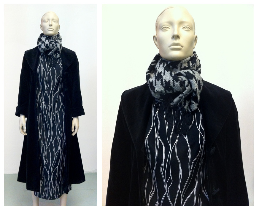 Random work from DEARHUNTER  | DRESS UP DOLLS | Pied de Poule Scarf - Wave Dress - Velvet Coat