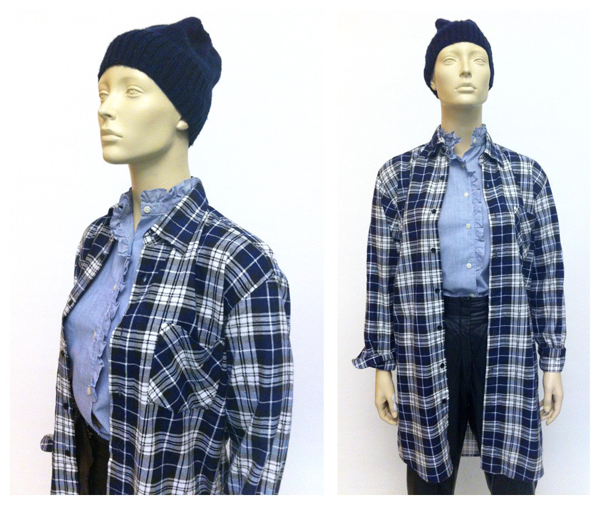 Random work from DEARHUNTER  | DRESS UP DOLLS | Plaid Shirt Dress - Ruffle Blouse - Leather Pants