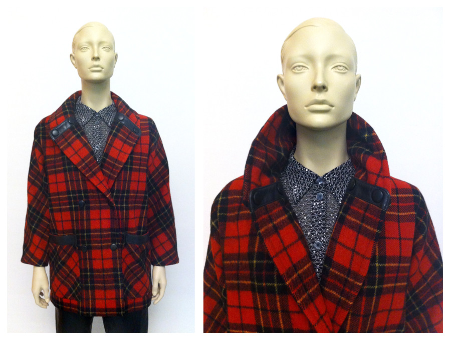 Random work from DEARHUNTER  | DRESS UP DOLLS | Wool & Leather Tartan Jacket