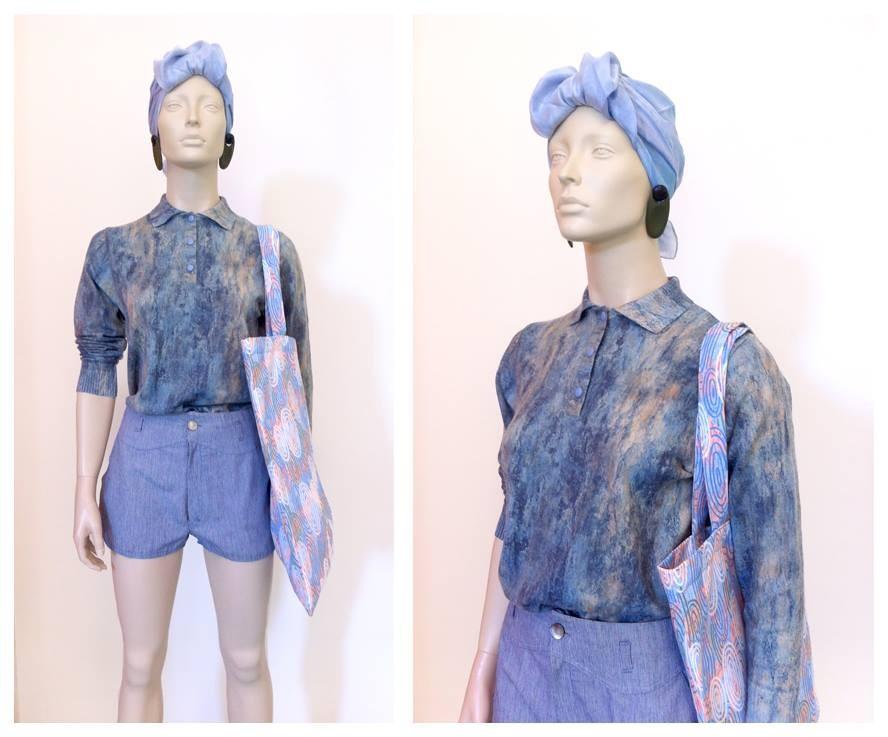 Random work from DEARHUNTER  | DRESS UP DOLLS | Wool Print Sweater - Pinstripe Shorts - DH Bag