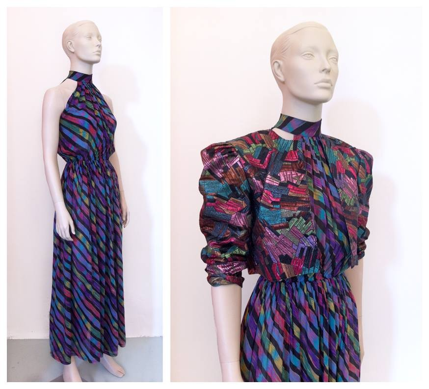 Random work from DEARHUNTER  | DRESS UP DOLLS | Multicolor Dress - Lamé Zigzag Cropped Jacket