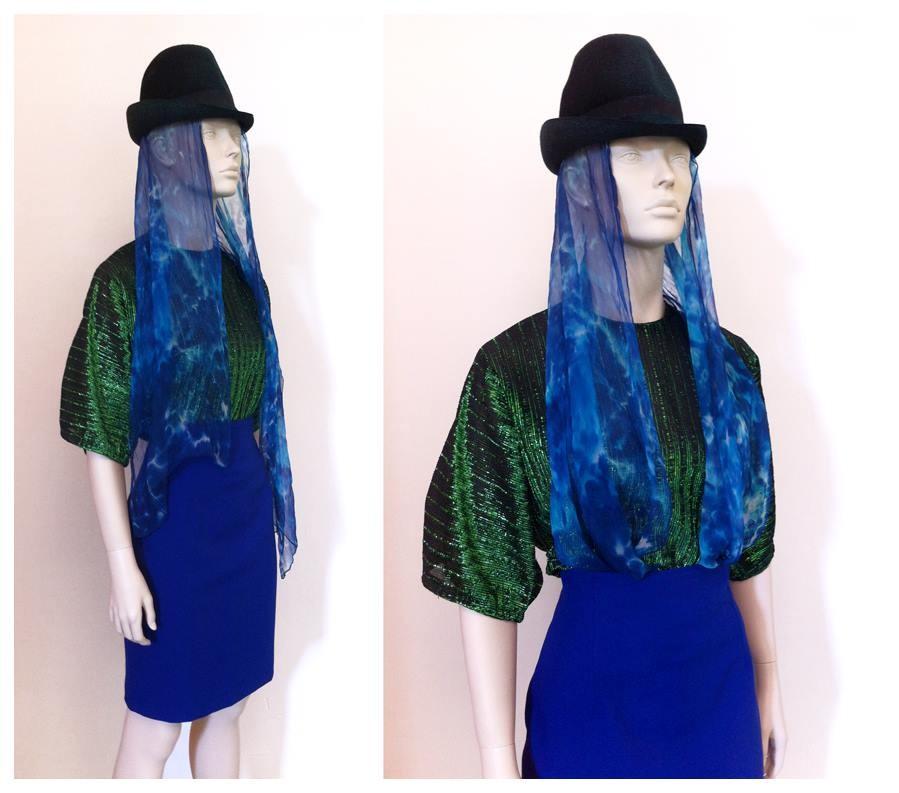 Random work from DEARHUNTER  | DRESS UP DOLLS | Hat - Waterfall Scarf - Lamé Tee - Pencil Skirt