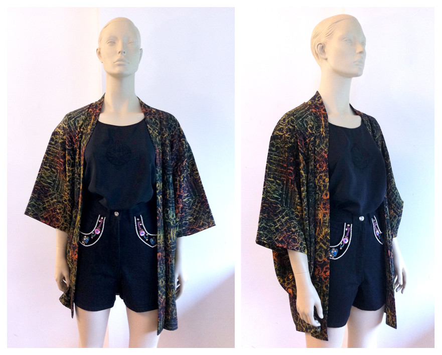 Random work from DEARHUNTER  | DRESS UP DOLLS | Silk & Lamé Haori - Western Jeans Shorts