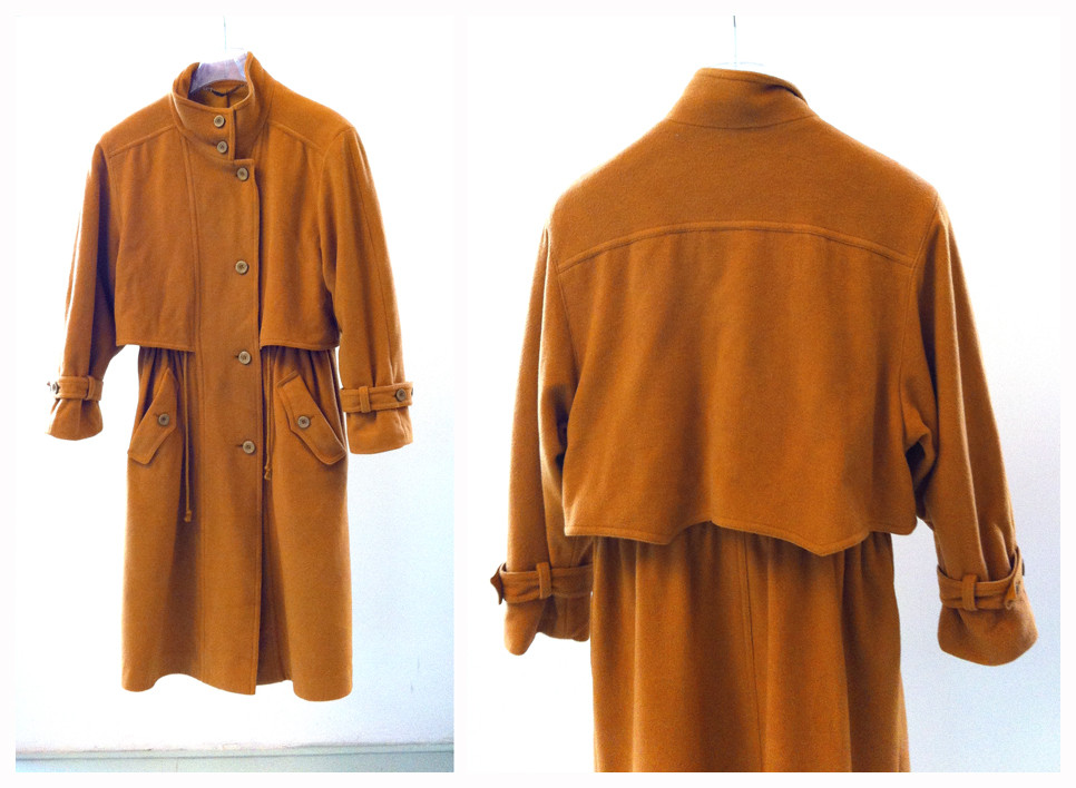 Random work from DEARHUNTER  | VINTAGE PORTFOLIO | Mustard Wool Coat