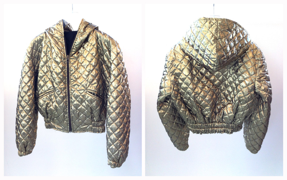 Random work from DEARHUNTER  | VINTAGE PORTFOLIO | Quilted Gold Lamé Bomber Jacket